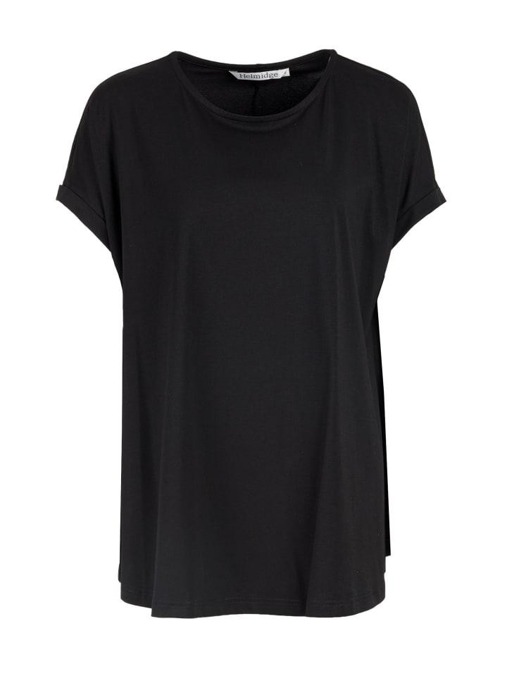 HELMIDGE Kurzarmbluse Bluse in schwarz
