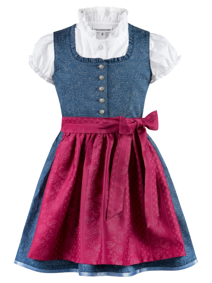 "Stockerpoint Kinderdirndl ""Kathi jr."" in bleu-beere"