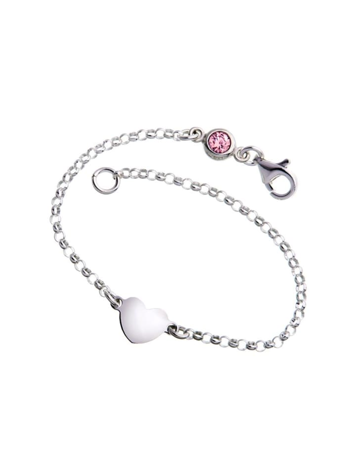 925 Silber Armband mit rosafarbenen Swarovski Kristall