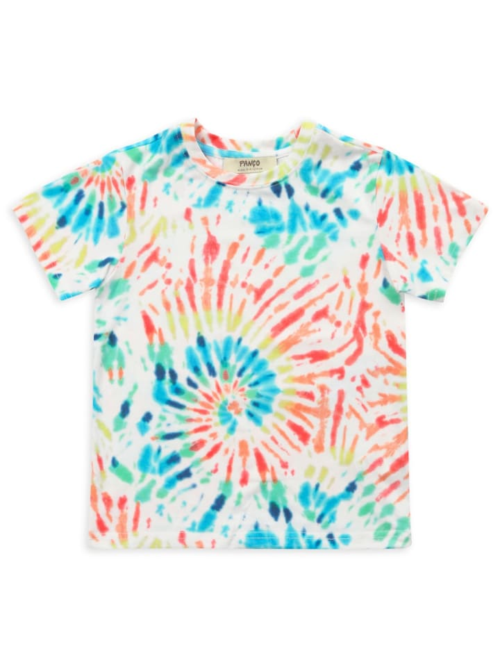 Panco T-Shirt - mit Batikmuster - für Jungen in Weiß