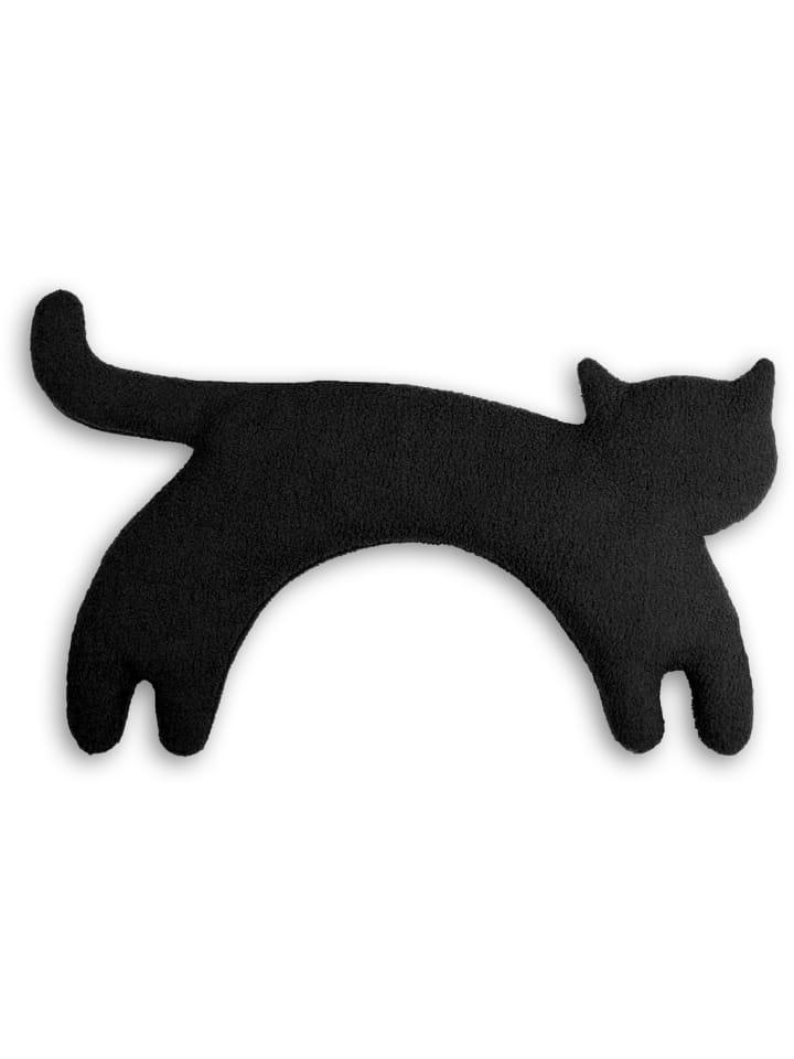 "Leschi Wärmekissen ""Katze Minina"" stehend in Schwarz - (L) 39 x (B) 17 cm"