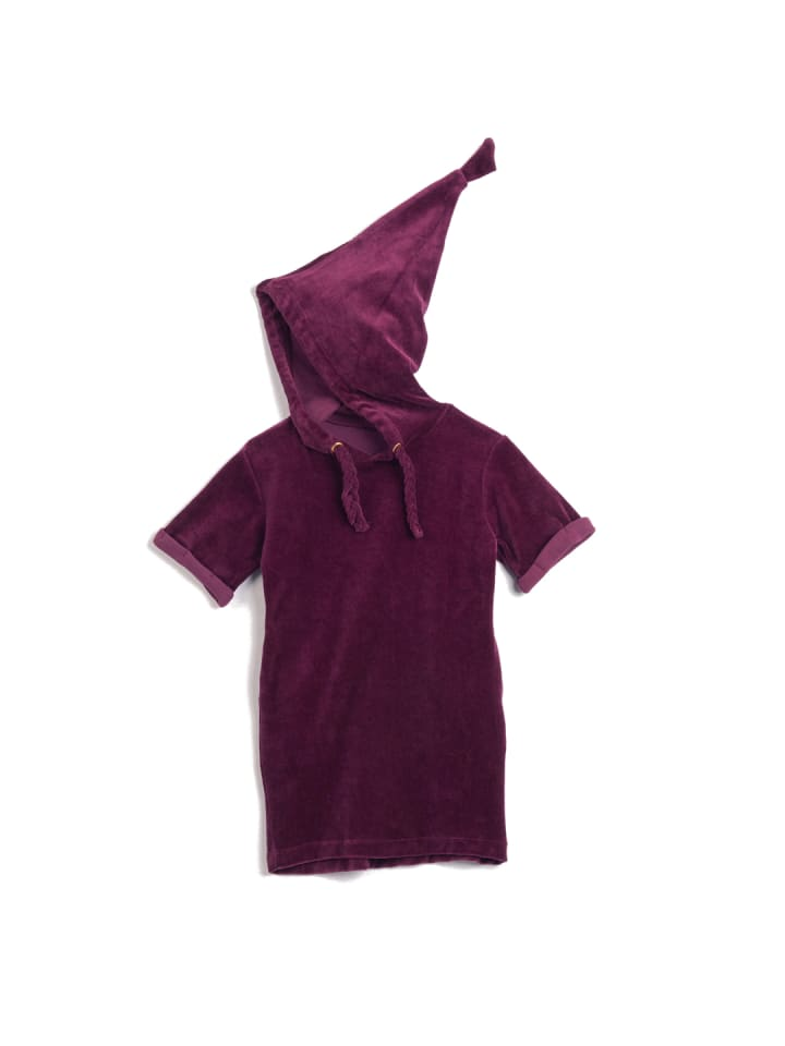 """OKKER-GOKKER NATURE Kleid """"Velour"""" in bordeaux"""