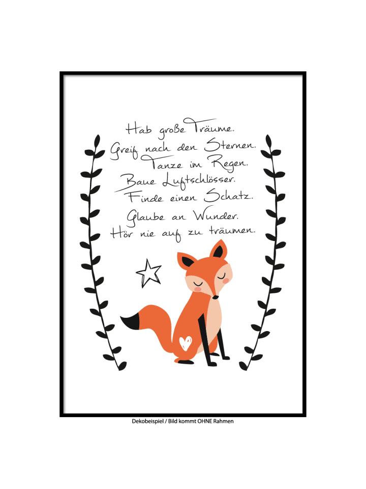 """SMART ART Kunstdrucke Kunstdruck / Poster """"Hab große Träume"""" / A4 oder A3"""