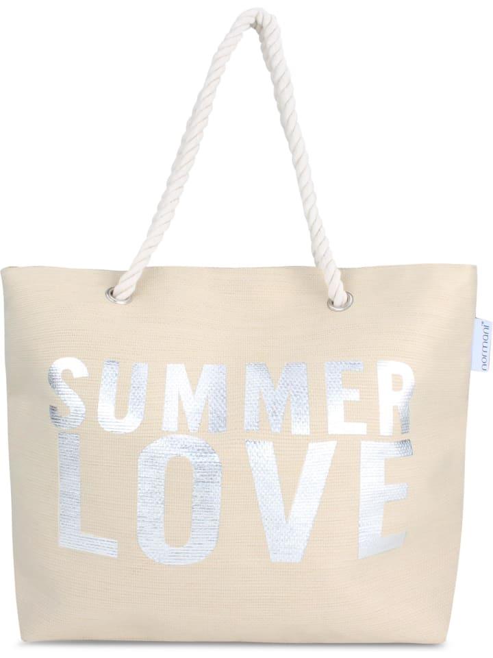 Normani Sommer-Umhängetasche, Strandtasche in Summer Love Beige
