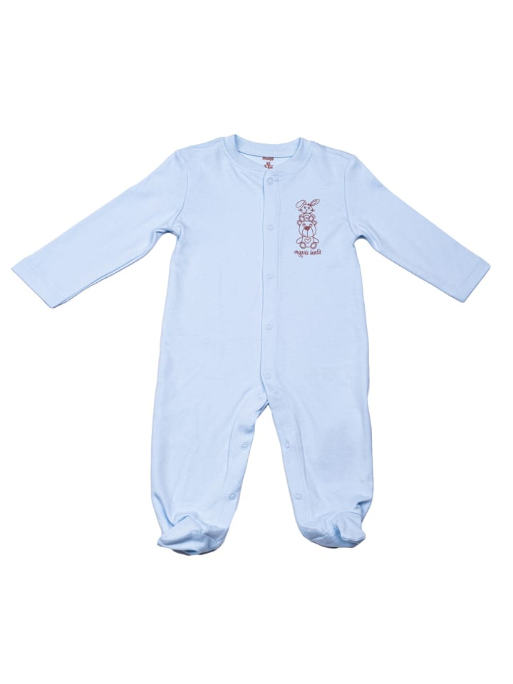 Panco Baby Overall Strampler in blau