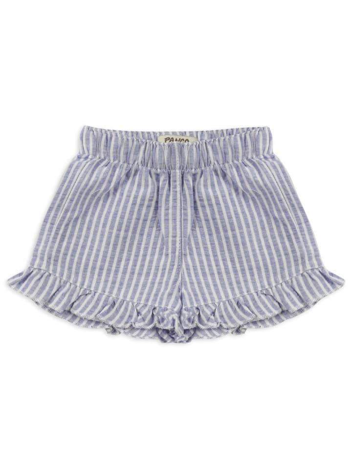 Panco Kurze Hose - mit Rüschendetail - für Mädchen in Blau