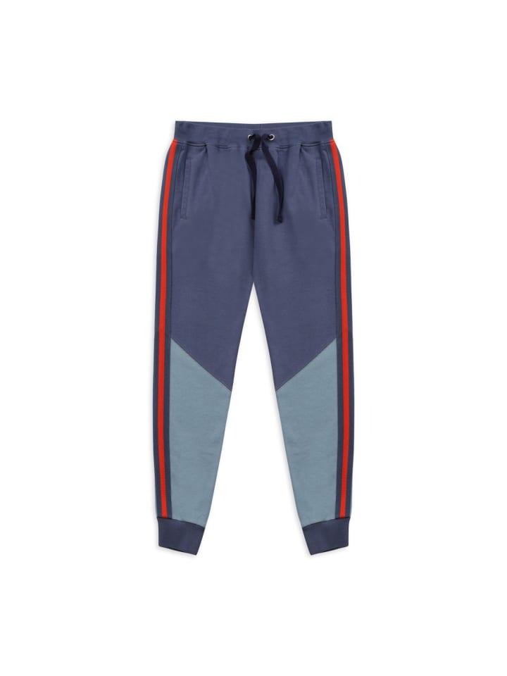 Panco Jogginghose - mit Seitenstreifen - für Jungen in Indigoblau