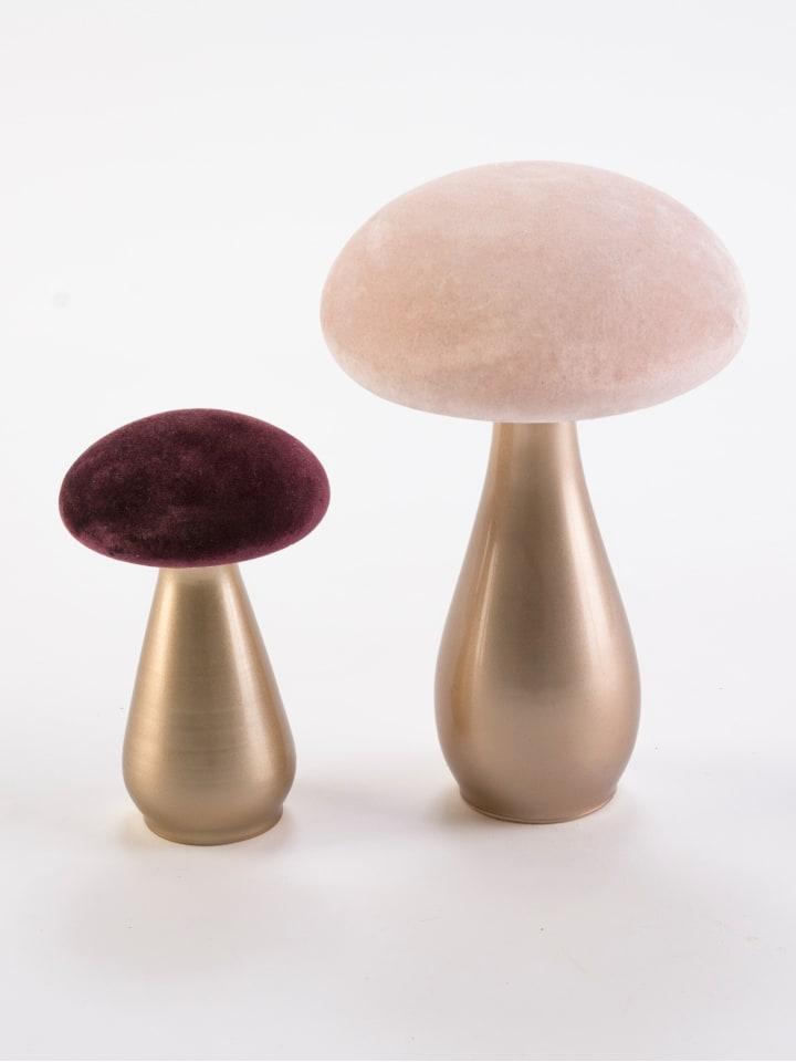 Impressionen Living Deko-Pilz-Set, 2-tlg. in pink