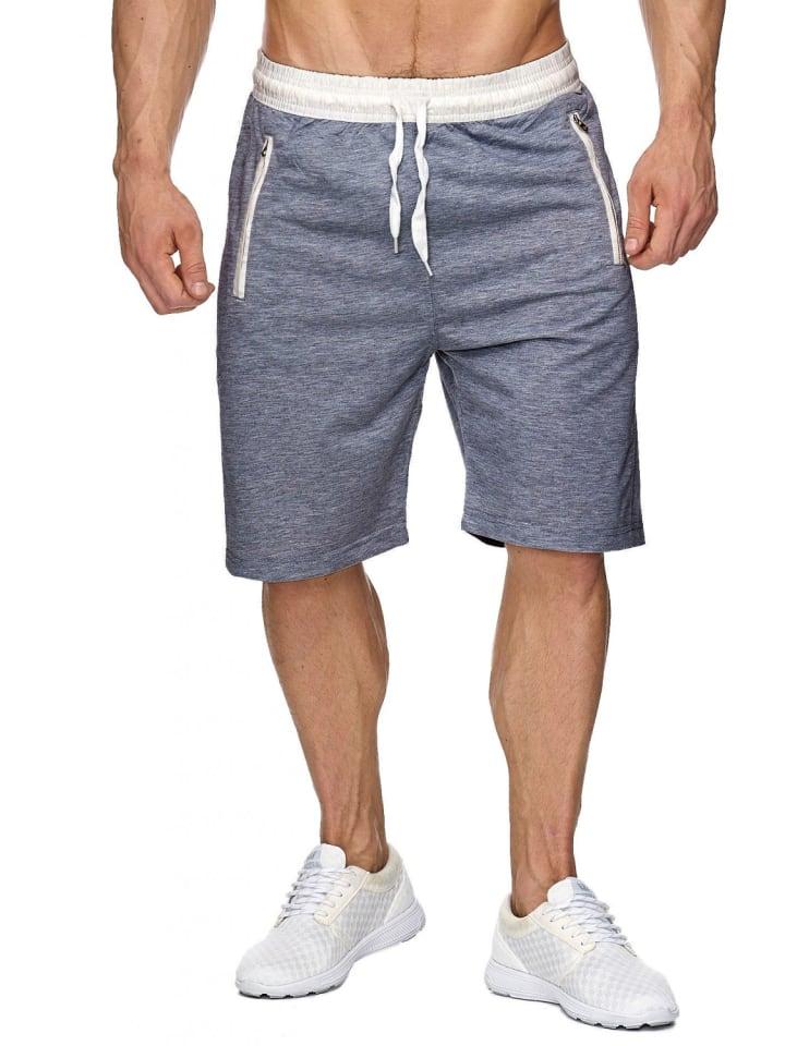 EGOMAXX Sweat Shorts Kurze Jogging Hose Bermuda Sporthose H1927 in Dunkelgrau