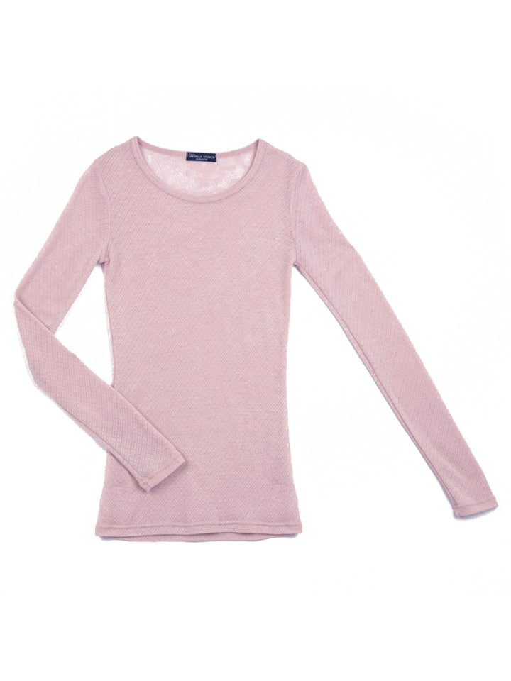 "OKKER-GOKKER NATURE Langarmshirt aus Wolle ""Grandma""in rosa"