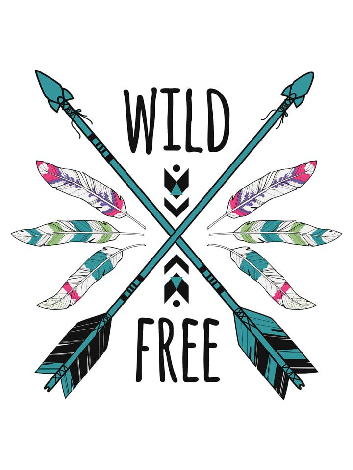 Dekodino Wandtattoo Kinderzimmer Federn Und Pfeile Wild And Free In Bunt Gunstig Kaufen Limango
