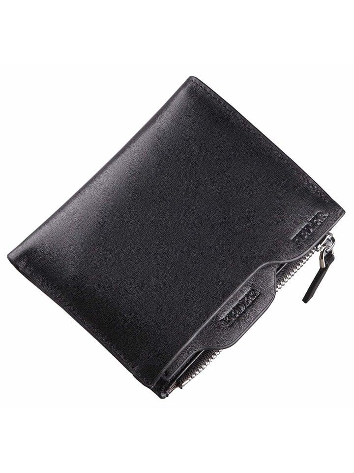 FEDER Leder Geldbörse + Geschenkbox in Black