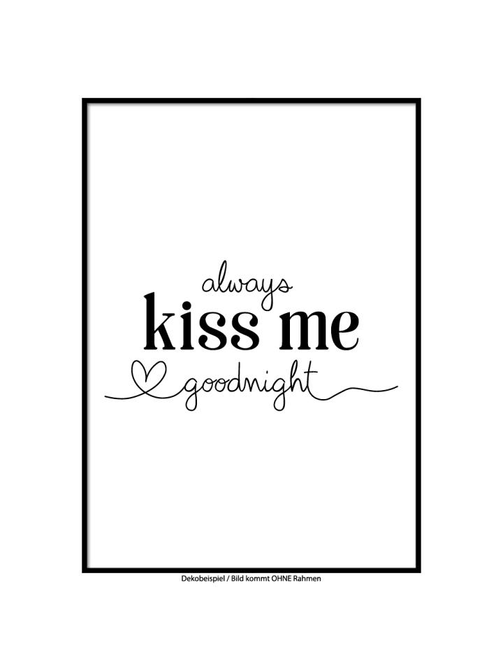 "SMART ART Kunstdrucke Kunstdruck / Poster ""kiss me"" / A4 oder A3"