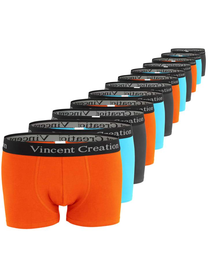 Vincent Creation® Boxershorts-Hipster 12 Stück in Orange/Türkis/Anthrazit