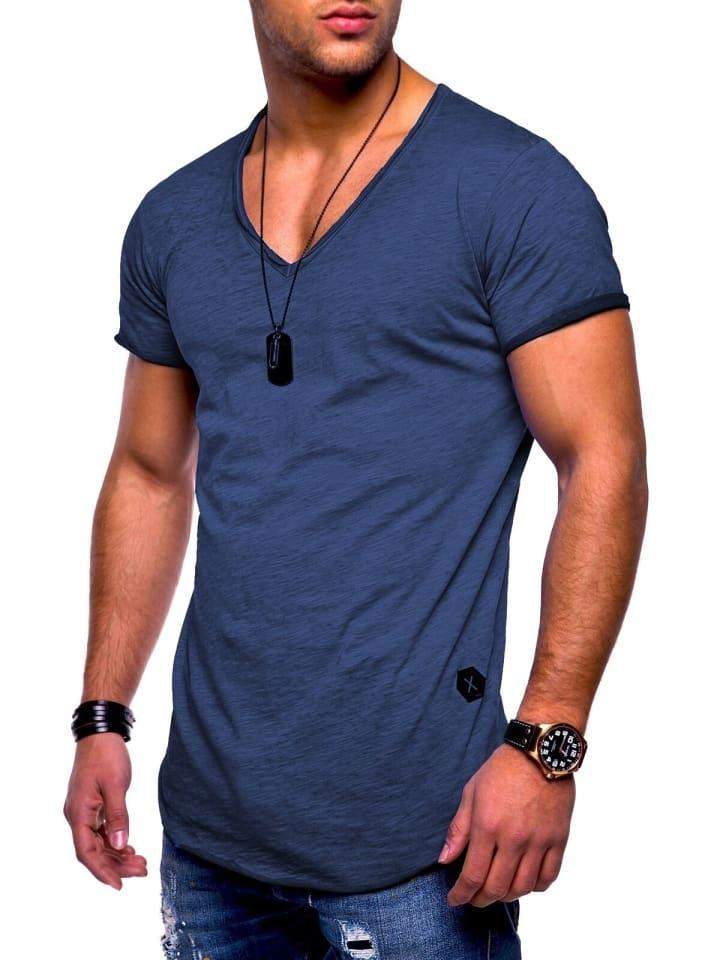 Behype T-Shirt NUKE in navy (wash)