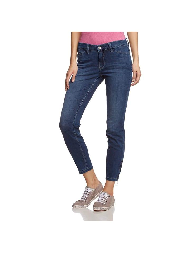 MAC HOSEN Straight Leg Jeans in dunkel-blau