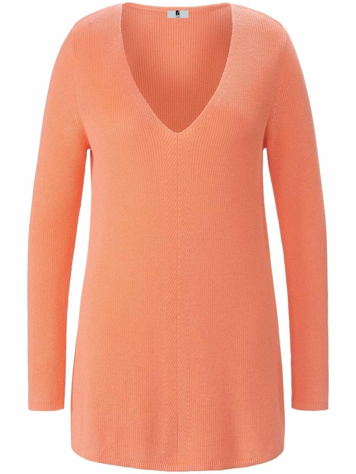 ANNA AURA Pullover V-Pullover in koralle