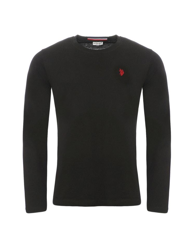 U.S. Polo Assn. Polo LongSleeve Shirt in Schwarz