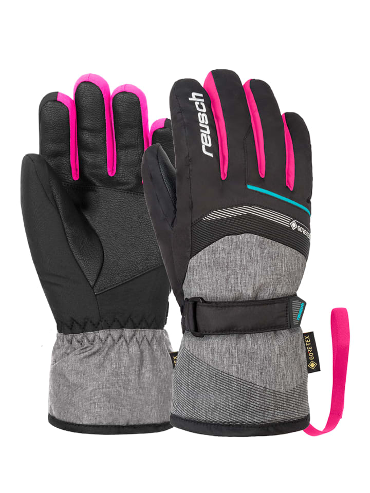 Reusch Fingerhandschuh Bolt GTX Junior in blck/blck melang/pink glo
