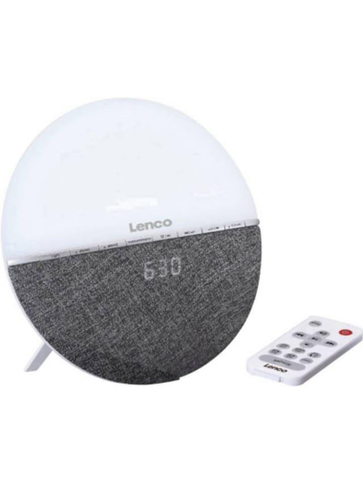 Lenco CRW-4GY - Radiowecker mit Wake-Up Light und Bluetooth, grau