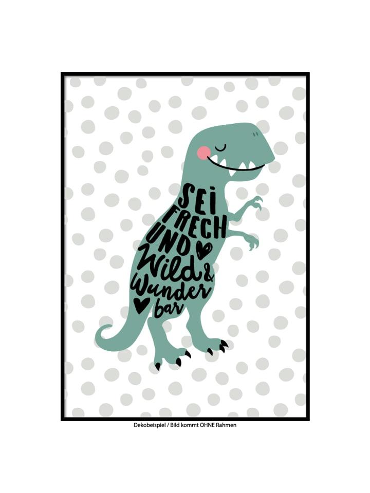 """SMART ART Kunstdrucke Kunstdruck / Poster """"wilder Dino"""" / A4 oder A3"""