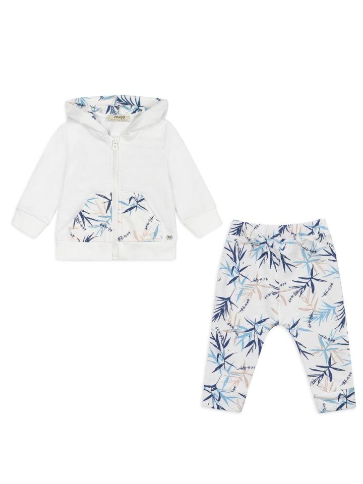 Panco Sweatshirt Look - mit Kängerutasche - für Mädchen in Weiß