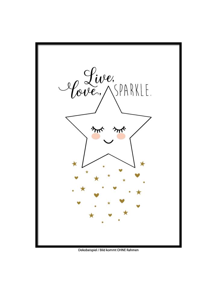 "SMART ART Kunstdrucke Kunstdruck / Poster ""Star"" / A4 oder A3"