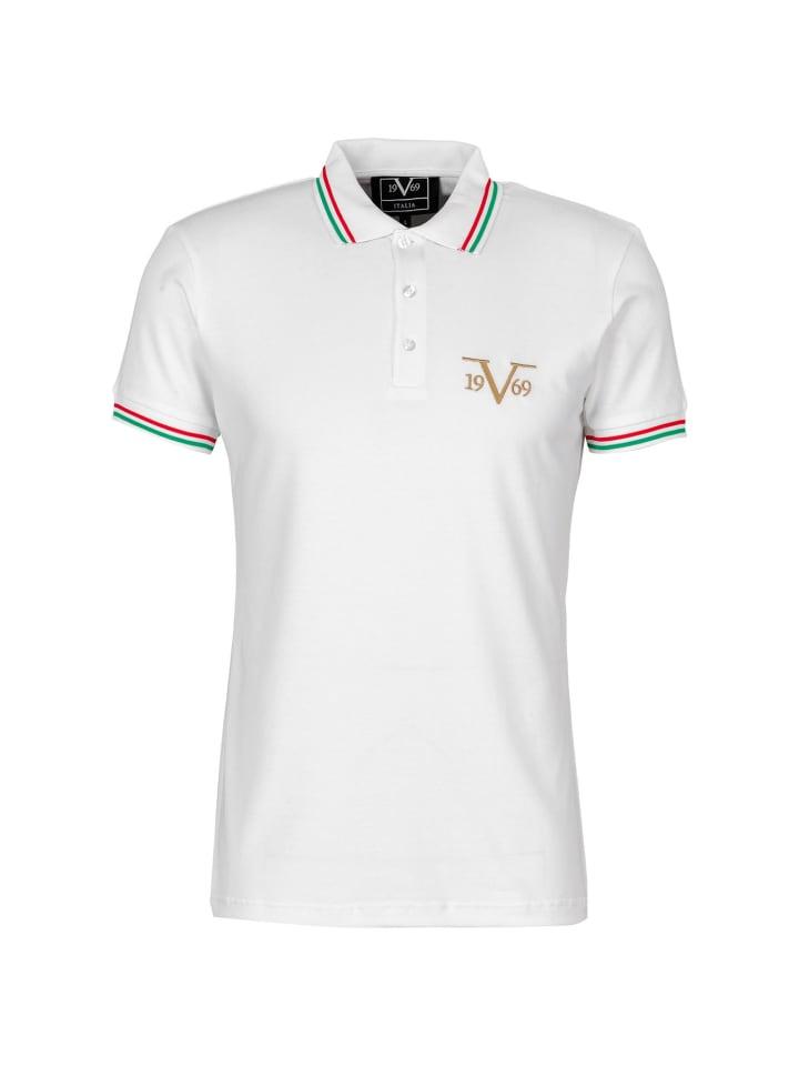19V69 Italia by Versace Poloshirt Logo in weiß