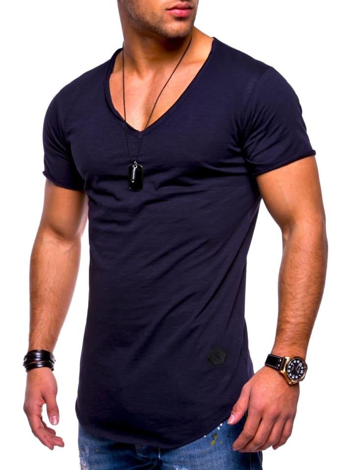 Behype T-Shirt NUKE in navy