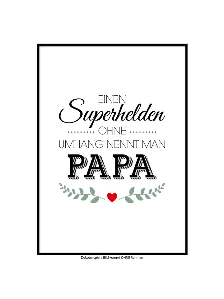"SMART ART Kunstdrucke Kunstdruck / Poster ""Superheld Papa"" / A4 oder A3"