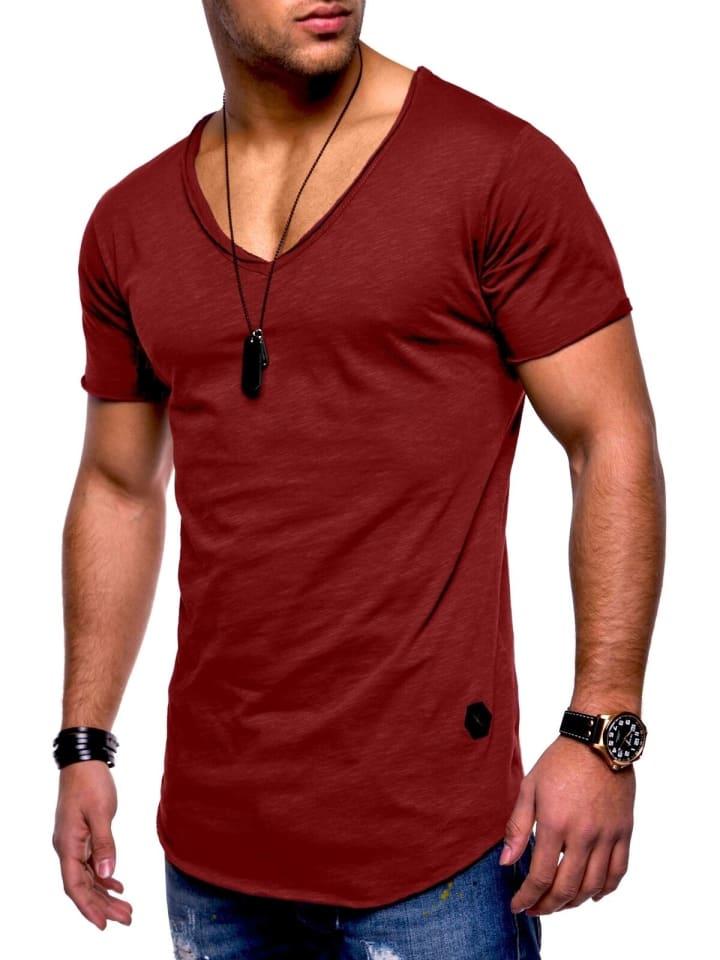 Behype T-Shirt NUKE in weinrot