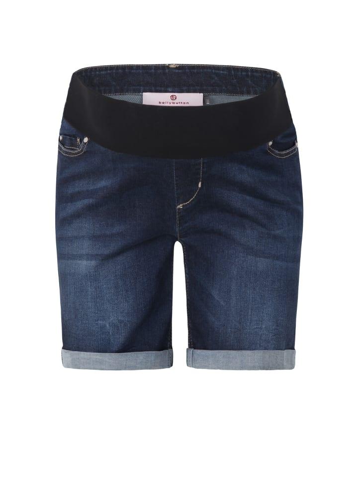 Bellybutton Umstandsshorts Jeans in light blue denim