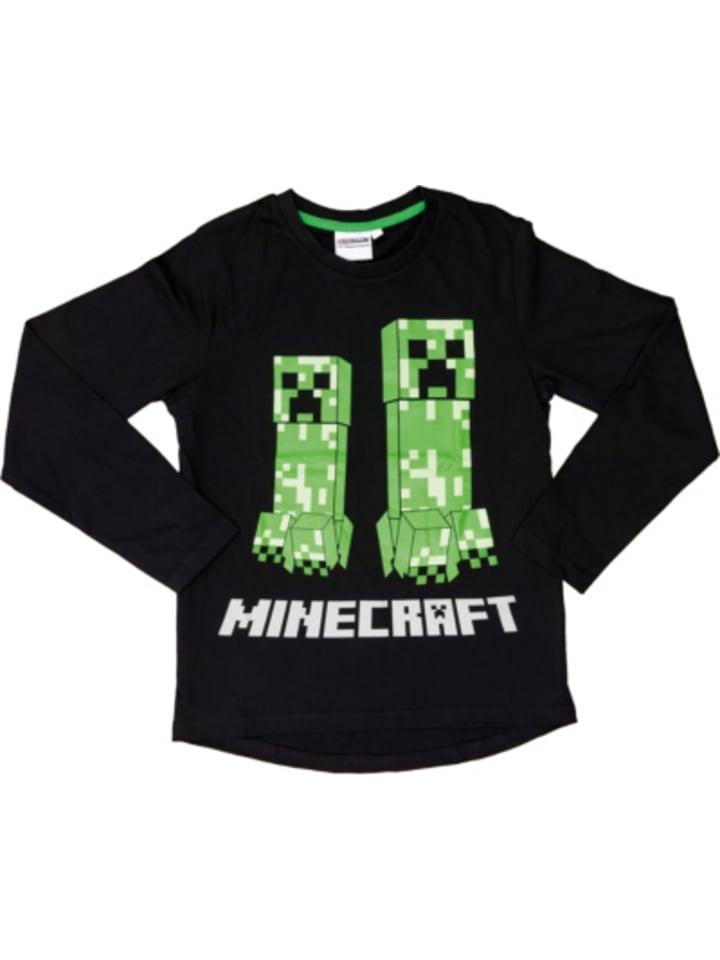 Minecraft Langarmshirt Minecraft black/green 116cm