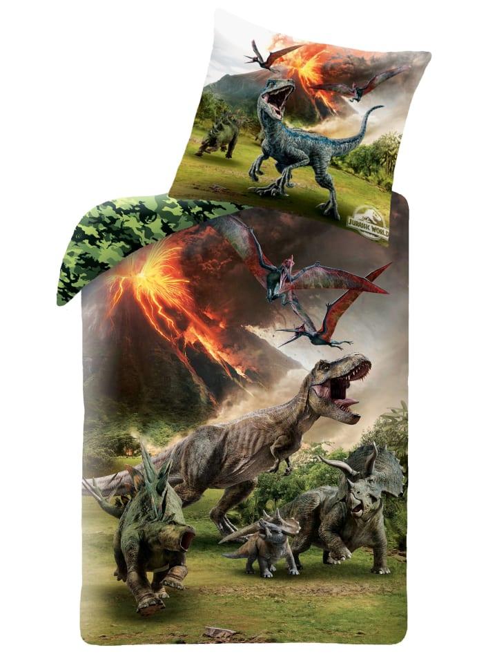 """Jurassic World Kinder Bettwäsche-Set """"Jurassic World - Dino/Dinosaurier"""" in Bunt"""