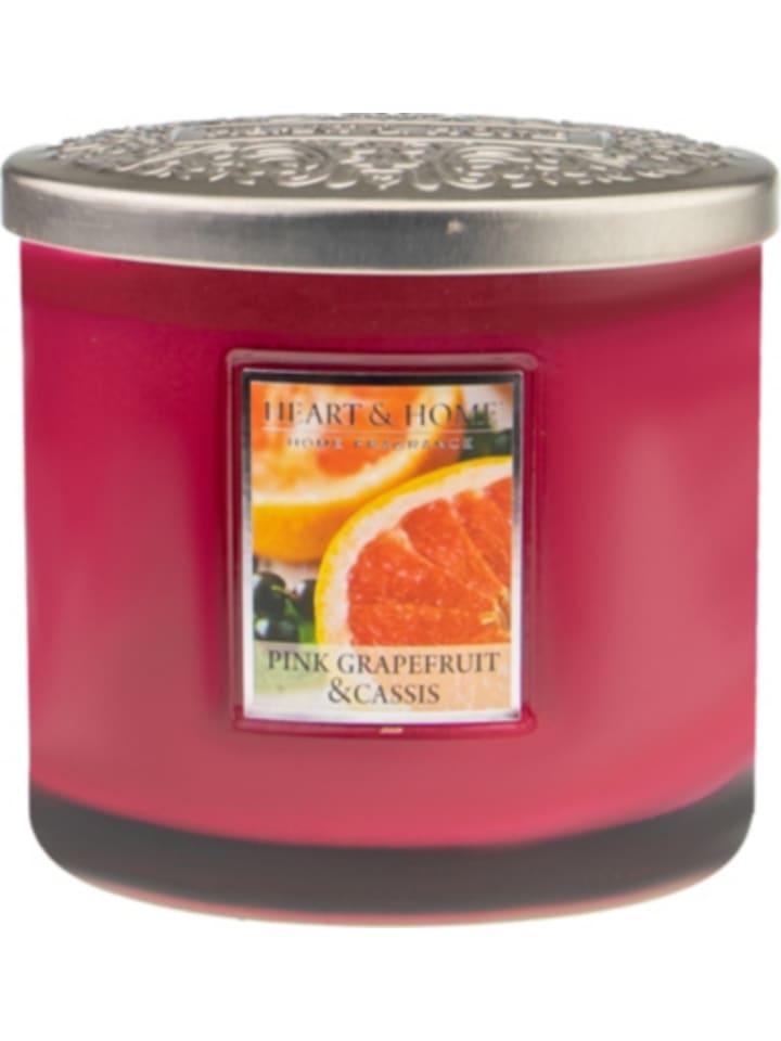 "HEART & HOME Duftkerze Ellipse ""Grapefruit & Casis"", 230g"
