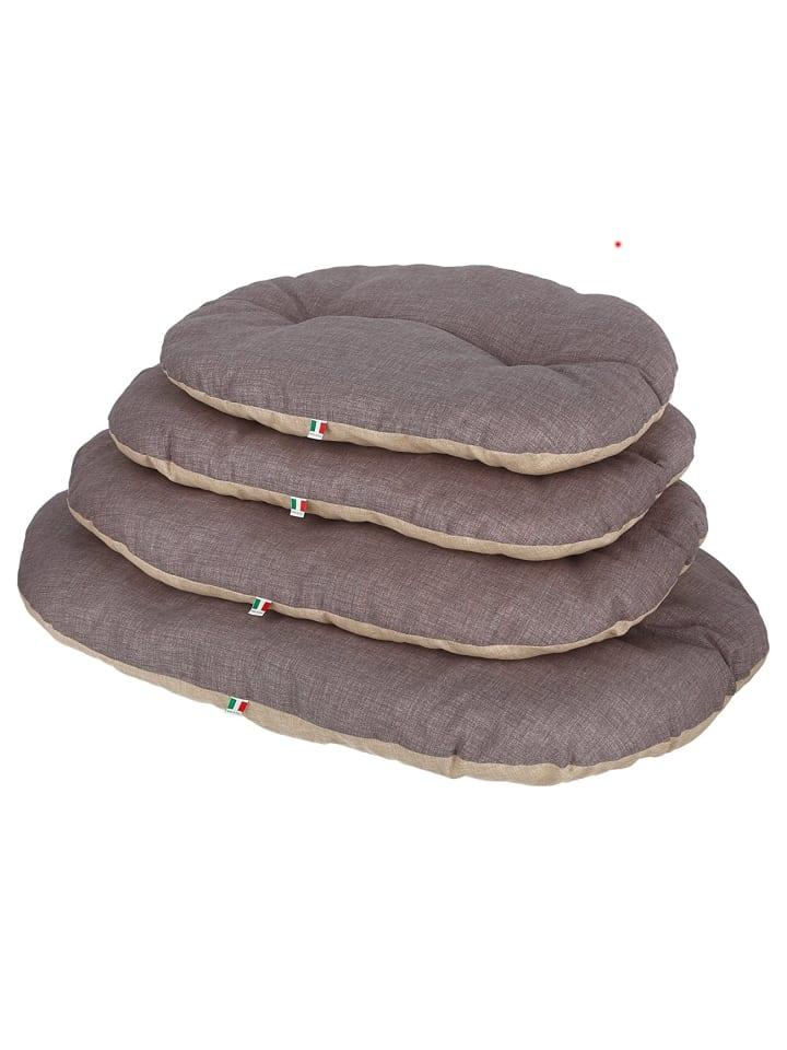 Kerbl Hunde Liegekissen Loneta oval braun/grau 72x52 cm