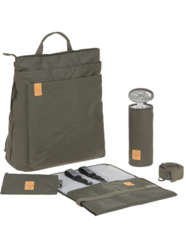 Lässig Wickelrucksack Tyve, Backpack, Greenlabel, olive
