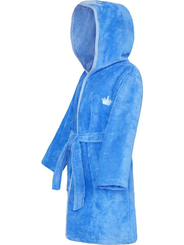 Smithy Bademantel Schmuseflausch in Blau