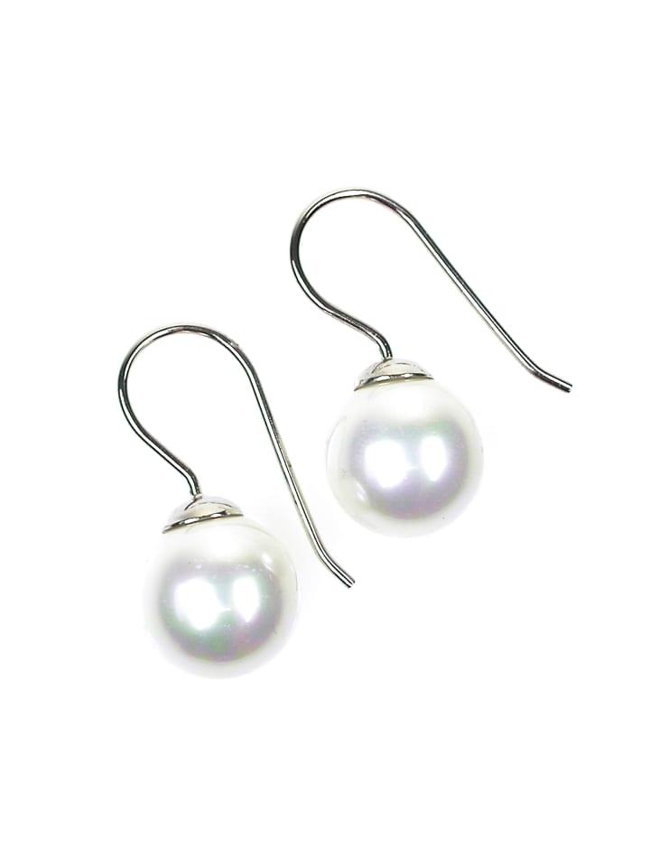 Perlas Orquidea  Perlenohrringe Famm ia Earrings in weiß