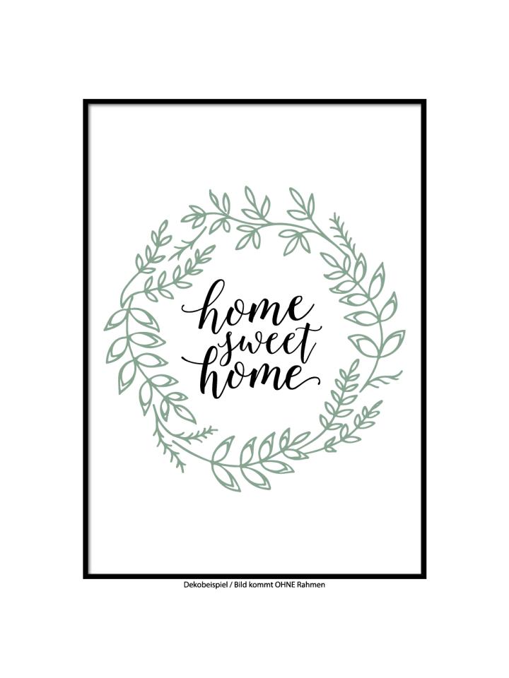 "SMART ART Kunstdrucke Kunstdruck / Poster ""Sweet Home"" / A4 oder A3"