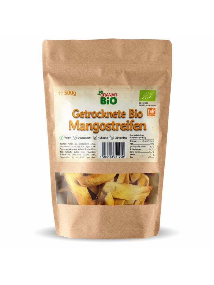 Granar 500g Bio Mango - sonnengetrocknet, Fair Trade