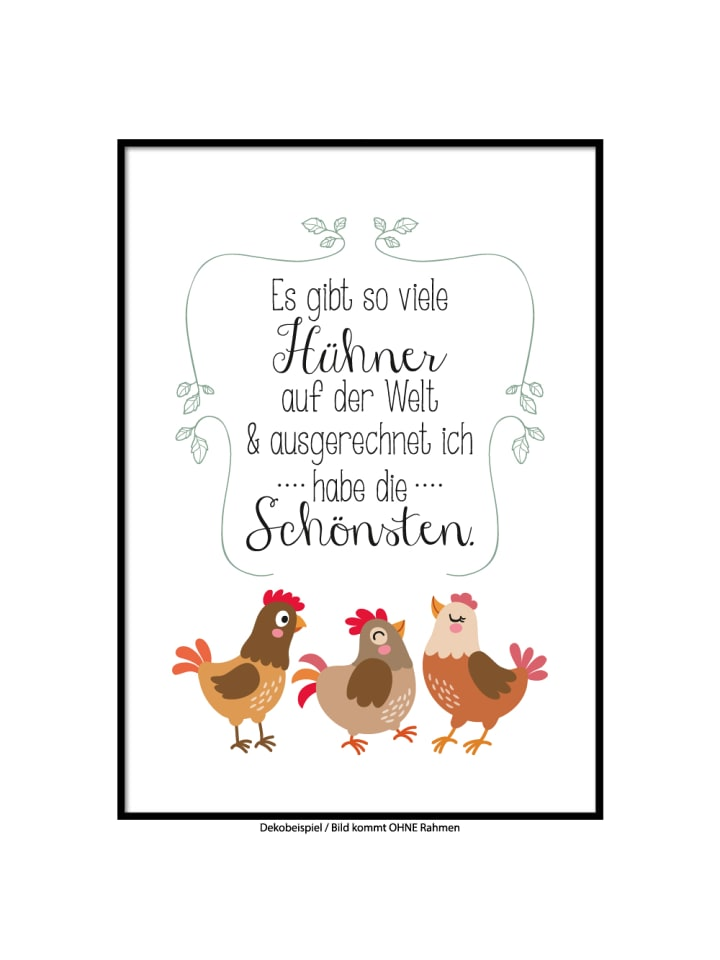 """SMART ART Kunstdrucke Kunstdruck / Poster """"Schöne Hühner"""" / A4 oder A3"""