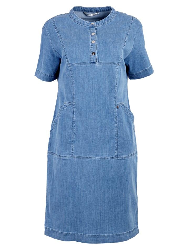 HELMIDGE Jeanskleid Denimkleid in blau