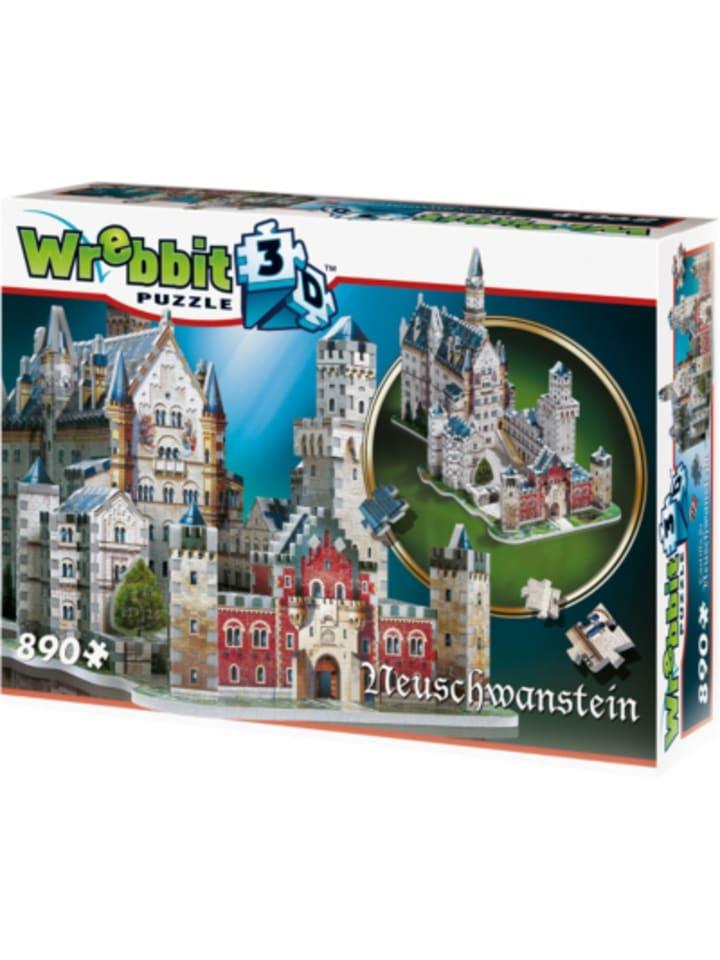 Wrebbit 3D Puzzle 890 Teile Schloss Neuschwanstein