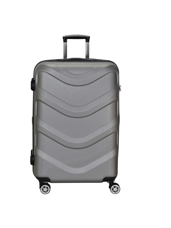 Stratic Arrow 4-Rollen Trolley 75 cm in silvercolored