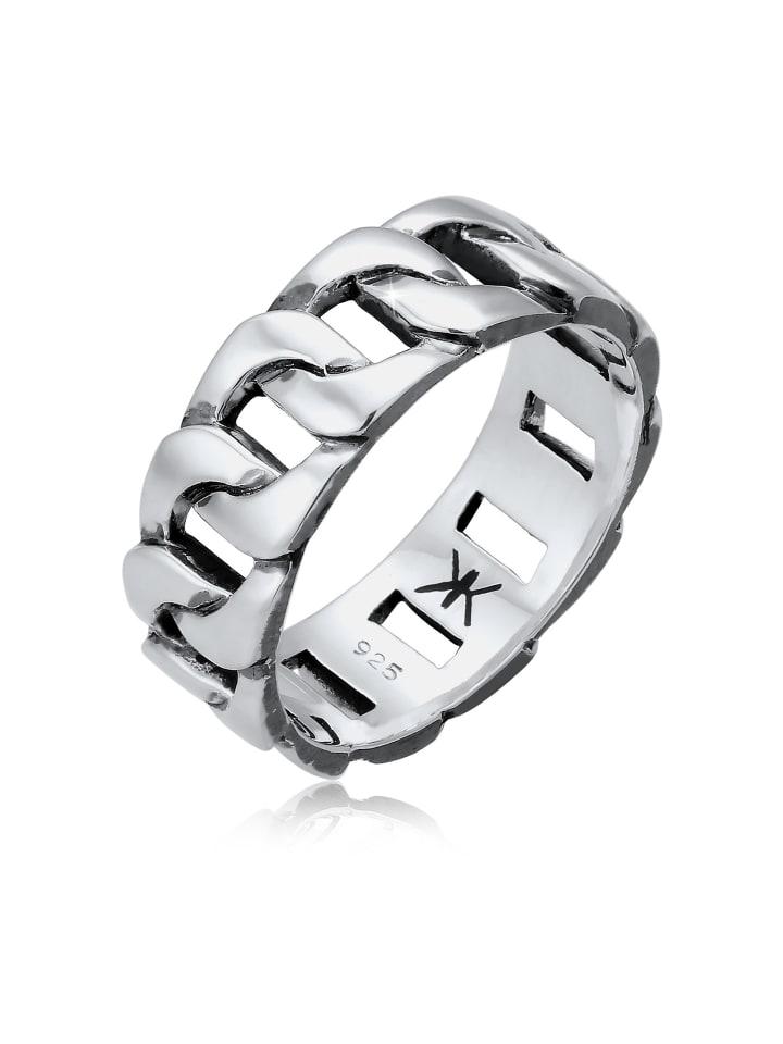 KUZZOI Ring 925 Sterling Silber Bandring in Silber