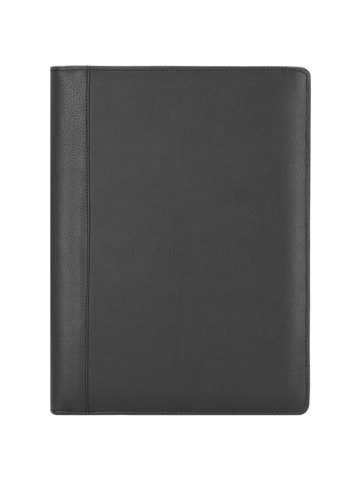 Alassio Catana Schreibmappe Leder 33 cm in schwarz