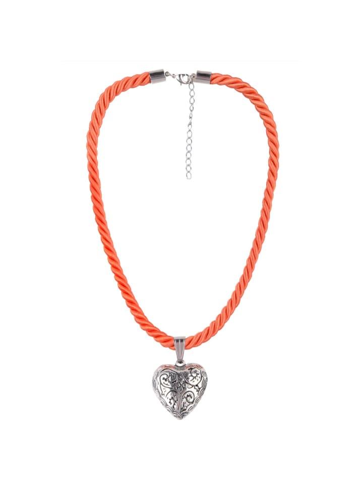 Schlick Accessoires Trachtenhalskette in Orange