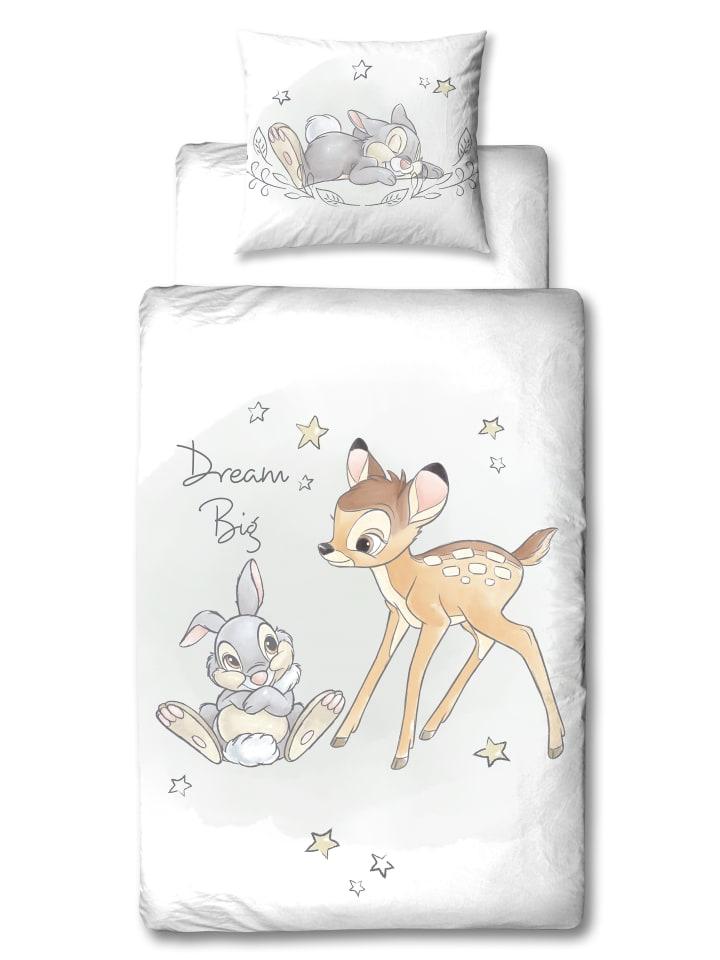 """Disney Mädchen Bettwäsche-Set Flanell """"Disney's Bambi"""" in Weiß"""