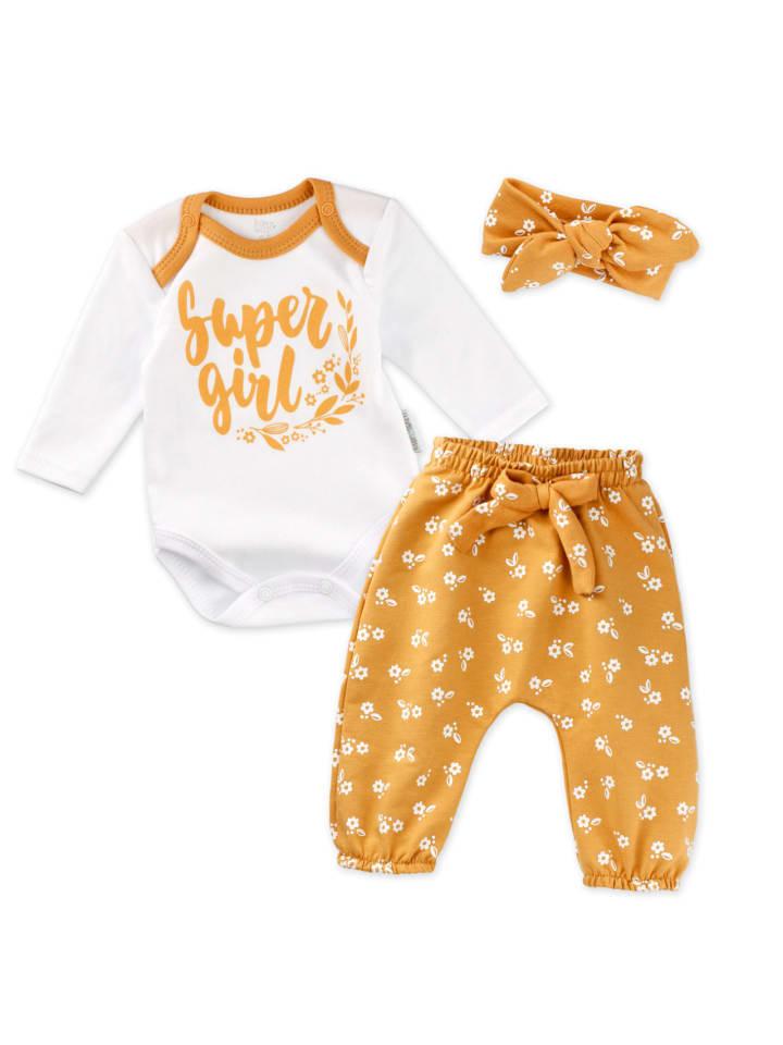 Baby Sweets 3tlg Set Body + Hose + Mütze Lieblingsstücke in bunt